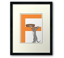 Cat Alphabet Letter F Framed Print
