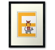 Cat Alphabet Letter E Framed Print