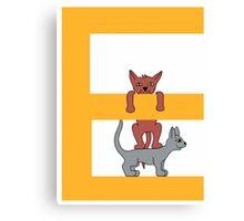 Cat Alphabet Letter E Canvas Print