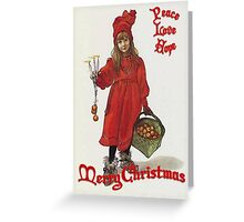 Peace, Love and Hope at Christmas After Larrson Greeting Card