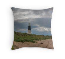 Spurn Point Lighthouse Throw Pillow