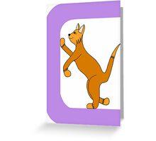 Cat Alphabet Letter C Greeting Card