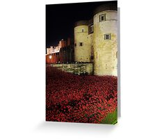 Poppies at the Tower of London - Night #3 Greeting Card