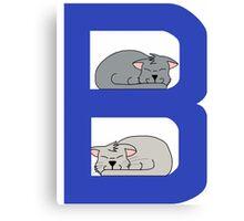 Cat Alphabet Letter B Canvas Print
