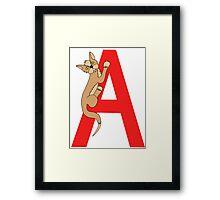 Cat Alphabet Letter A Framed Print