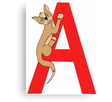 Cat Alphabet Letter A Canvas Print