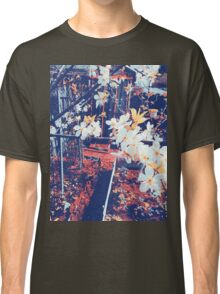 Halftone Blossoms Classic T-Shirt