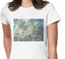 Halftone Blossoms 2 Womens Fitted T-Shirt