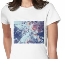 Halftone Blossoms 4 Womens Fitted T-Shirt