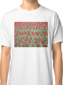 Lots of Red Tulips Classic T-Shirt