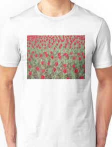Lots of Red Tulips Unisex T-Shirt