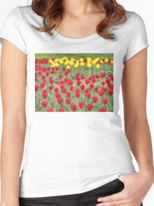 Lots of Red Tulips 2 Women's Fitted Scoop T-Shirt