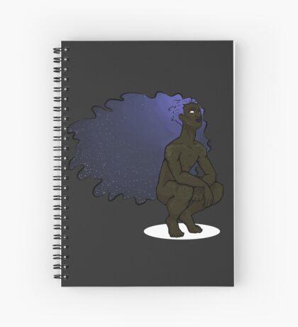 Etheral Space Hair Boy Spiral Notebook