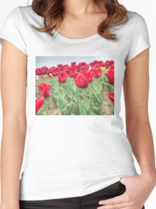 Lots of Red Tulips 3 Women's Fitted Scoop T-Shirt
