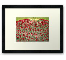 Lots of Red Tulips 4 Framed Print