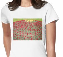 Lots of Red Tulips 4 Womens Fitted T-Shirt