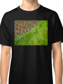 Red Tulips and Green Grass Classic T-Shirt
