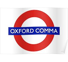 Oxford Comma Poster