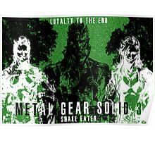Metal Gear Solid 3 - Snake Eater - Big Boss - Eva - Boss Poster
