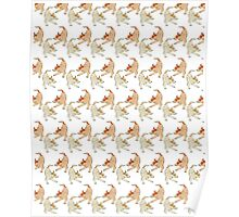 Cute dogs heelers pattern Poster