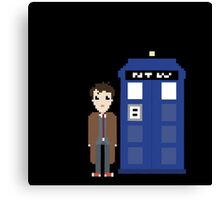 10th doctor and tardis Canvas Print