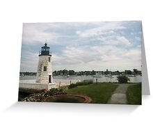 Lighthouse in Newport RI Greeting Card