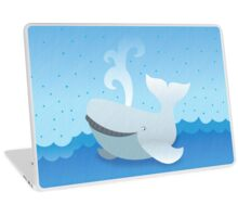Humpback whale on an ocean so blue Laptop Skin