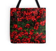 Poppy fields of remembrance for WW1 at Tower of London Tote Bag