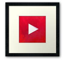 Textured Youtube Logo Framed Print