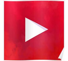 Textured Youtube Logo Poster