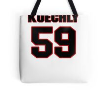 NFL Player Luke Kuechly fiftynine 59 Tote Bag