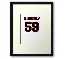NFL Player Luke Kuechly fiftynine 59 Framed Print