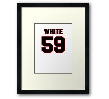 NFL Player Chris White fiftynine 59 Framed Print