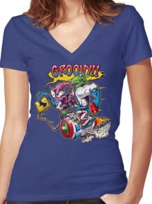 Groovy Fink Women's Fitted V-Neck T-Shirt