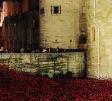 Poppies at the Tower of London - Night #3 Sticker
