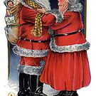 Vintage Christmas Greetings from Mr and Mrs Claus by taiche