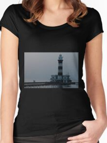 Walking to work Women's Fitted Scoop T-Shirt