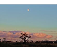 Waxing Gibbous Moon Photographic Print