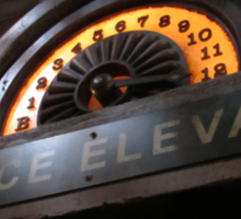 Hollywood Tower Hotel- Service Elevator Sticker