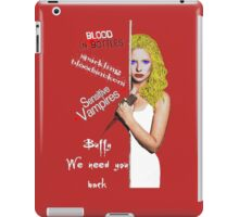 We Need You Back iPad Case/Skin