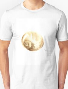 Shell painting art print watercolor, gold shell ideas for home T-Shirt