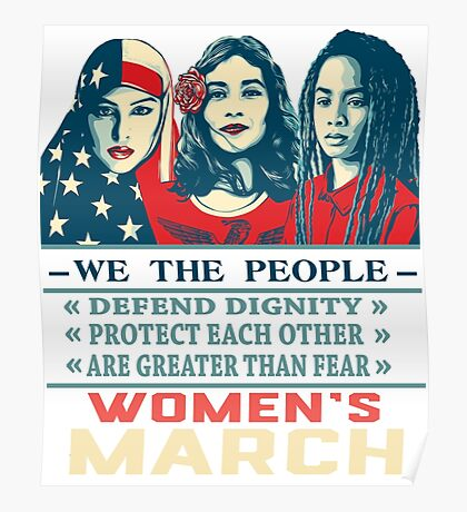 women's march 2017 t shirt Poster