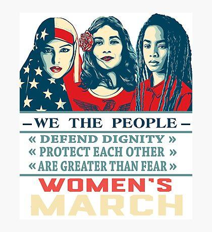 women's march 2017 t shirt Photographic Print