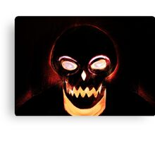 Smiley fiery skeleton Canvas Print