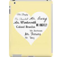 Jane Austen's Men iPad Case/Skin