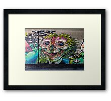 Creepy Horror Skull Framed Print
