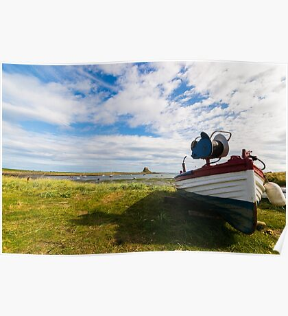Lindisfarne View. Poster