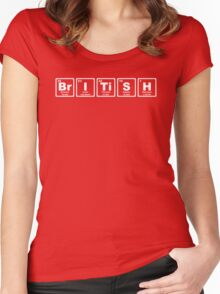 British - Periodic Table Women's Fitted Scoop T-Shirt