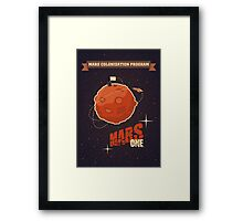 Mars colonization project Framed Print