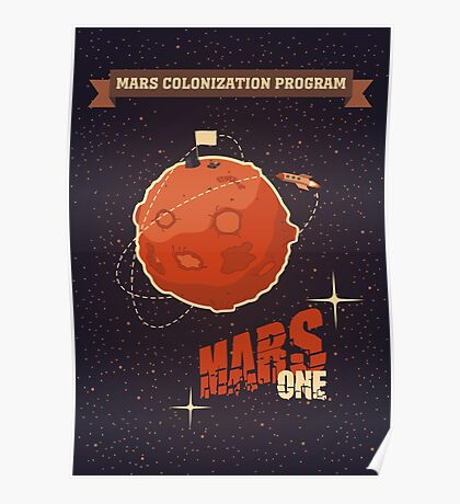 Mars colonization project Poster